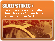 Sweepstakes Sponsorship Opportunities with the Long Island Ducks