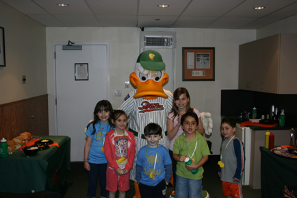 Fundraising with the Long Island Ducks and Quackerjack