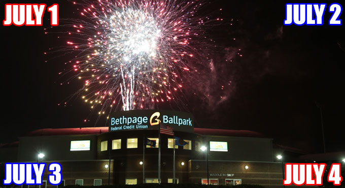 FOUR FIREWORKS SHOWS HIGHLIGHT INDEPENDENCE DAY WEEKEND!