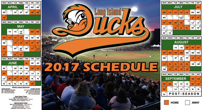Long Island Ducks Schedule
