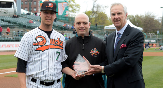 WEDNESDAY, MAY 11 - JOHN BROWNELL 2015 PITCHER OF THE YEAR AWARD PINS!