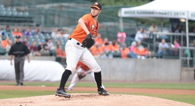 DOWNS' 10 STRIKEOUTS SILENCE YORK