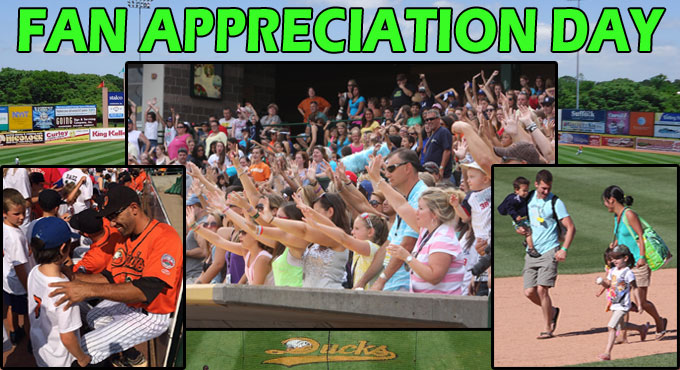 SUNDAY, SEPT. 21 - DUCKS VS. BLUE CRABS - FAN APPRECIATION DAY AND SUNDAY FAMILY FUNDAY - TICKETS AVAILABLE NOW!