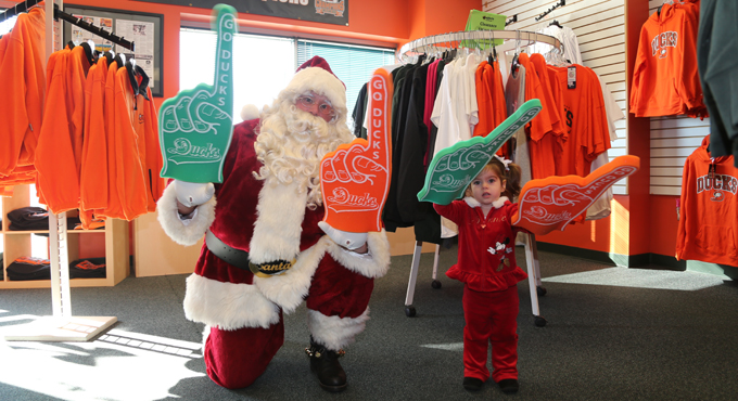 WADDLE IN OPEN FOR HOLIDAY SHOPPING & TOY DRIVE