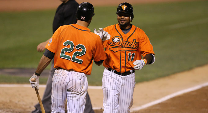 DUCKS DOMINANT IN ROUT OF BLUEFISH