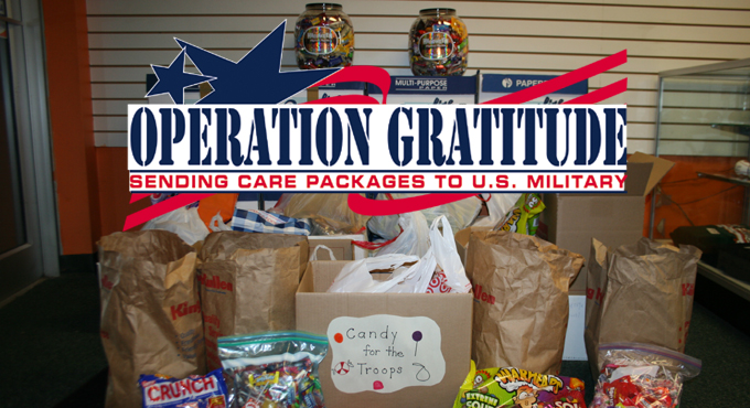 HALLOWEEN CANDY DONATION TO TROOPS BEGINS