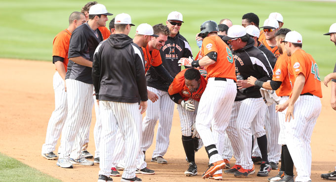 REDMAN LIFTS DUCKS TO WADDLE-OFF WIN